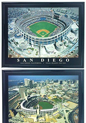 San Diego Padres Petco Park & Qualcom Stadium Framed Aerial Photos