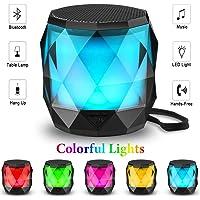 LFS Multi-Colored Auto-Changing RGB LED Night Light Portable Bluetooth Wireless Mini Speaker