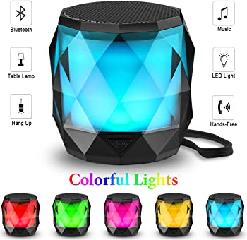 LFS Auto-Changing LED Night Light Portable Bluetooth Wireless Speaker