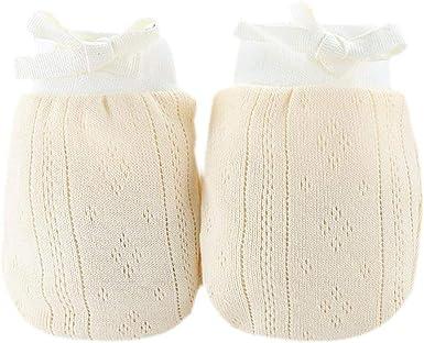 Guantes De Algodón Recién Nacido No Rascar Las Manoplas De Protección Facial Anti Arañazos Guante De 0-6 Meses Muchachas De Los Bebés (amarillo): Amazon.es: Ropa y accesorios