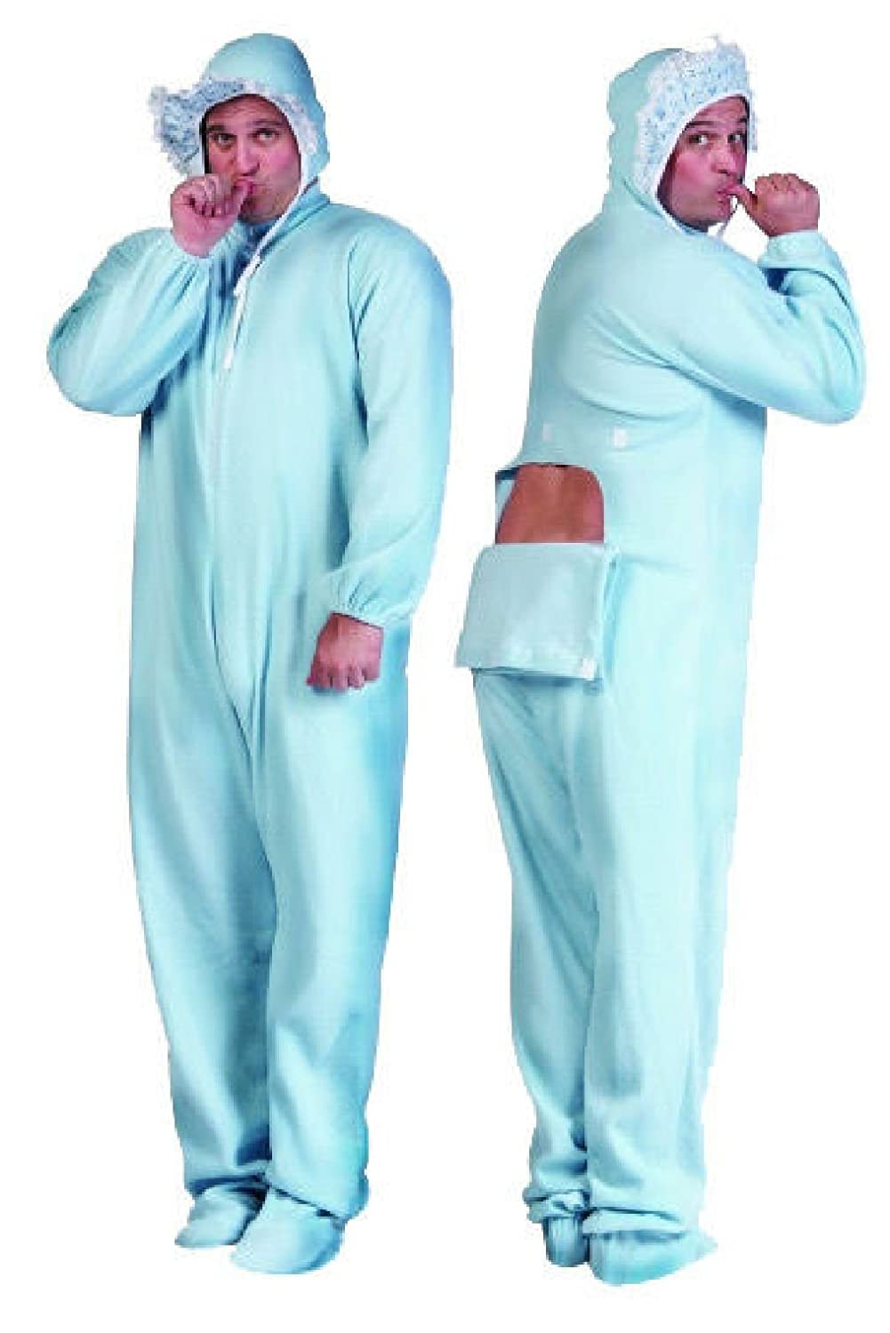 Amazon.com: OvedcRay Big Giant Baby Jammies Costumes Blue Pink Adult Baby  Costume Pajamas Jumpsuit: Clothing