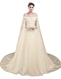 LMBRIDAL Womens Cap Sleeves Lace Bridesmaid Dress Formal Evening Gown PMD22