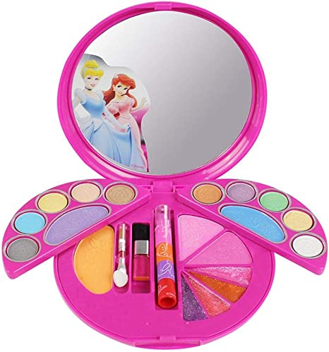 juegos maquillaje para niñas Disney Caja de cosméticos soluble en agua No tóxico para infantil, maletin estuche maquillaje niña: Amazon.es: Bebé