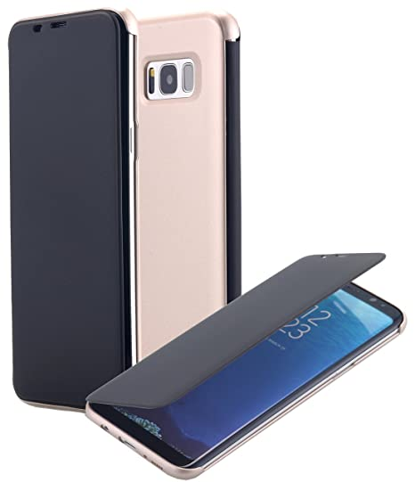 quality design d8362 99b87 Galaxy S8 Case, Clear View Translucent Touch Sensible Ultra Thin Slim  Window Front Flip Cover CaseShockproof Dirt Proof Flip Case Cover for  Samsung ...