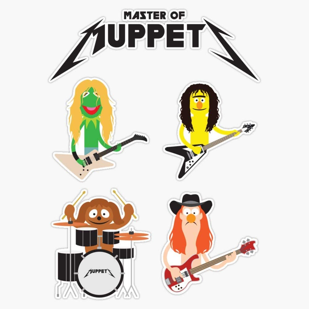 EMC Graphics Master of Muppets - Muppets As Metallica Band Vinyl Waterproof Sticker Decal Car Laptop Wall Window Bumper Sticker 5