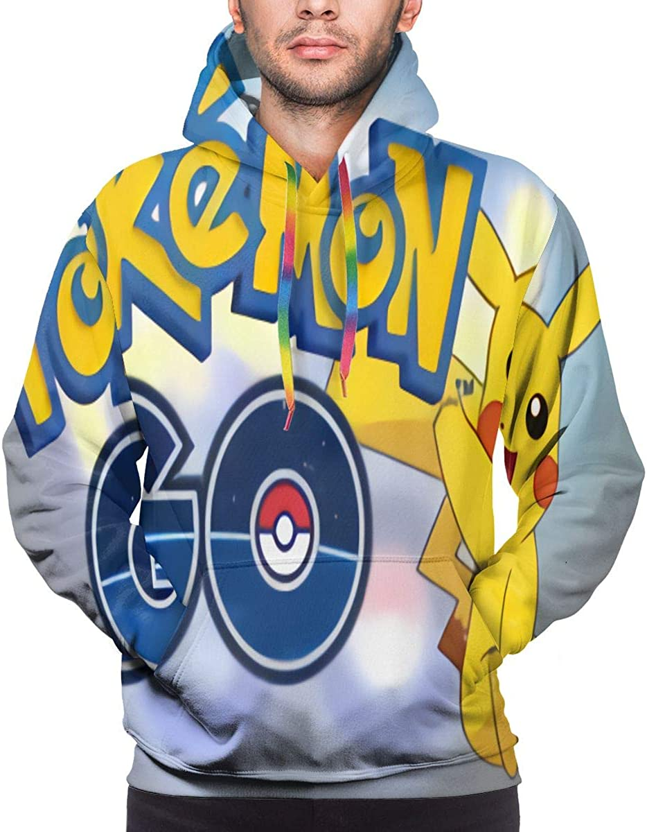 NOT Mens Pokemon and Pikachu 3D Printed Pullover Hooded Sweatshirt