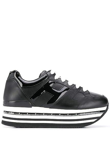 Hogan Mujer HXW4130T548I6SB999 Negro Cuero Zapatillas: Amazon.es: Zapatos y complementos