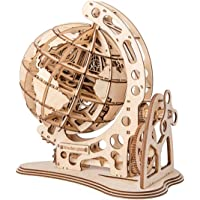 ROKR 3D Wooden Globe Puzzle, Adult Craft Model Building Kits, Educational Toy for Children Kids Boys Girls