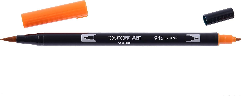 Tombow ABT Pennarello con due punte confezione da 12 include punta per sfumature colori del tramonto