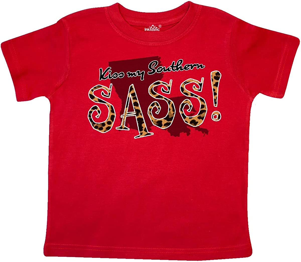 inktastic Louisiana Kiss My Southern Sass in Leopard Print Toddler T-Shirt