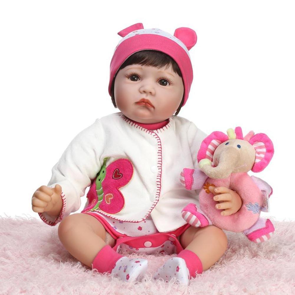 DomyBeste Mode Silikon Simulation Reborn Baby Puppe Kinder Playmate Geschenk Stofftiere