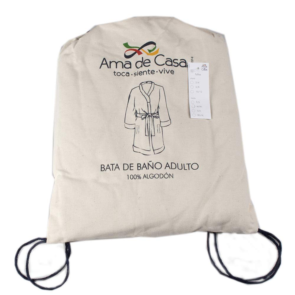 Amazon.com: Ama de Casa, Unisex Small Bathrobe, 100% Soft Cotton: Home & Kitchen