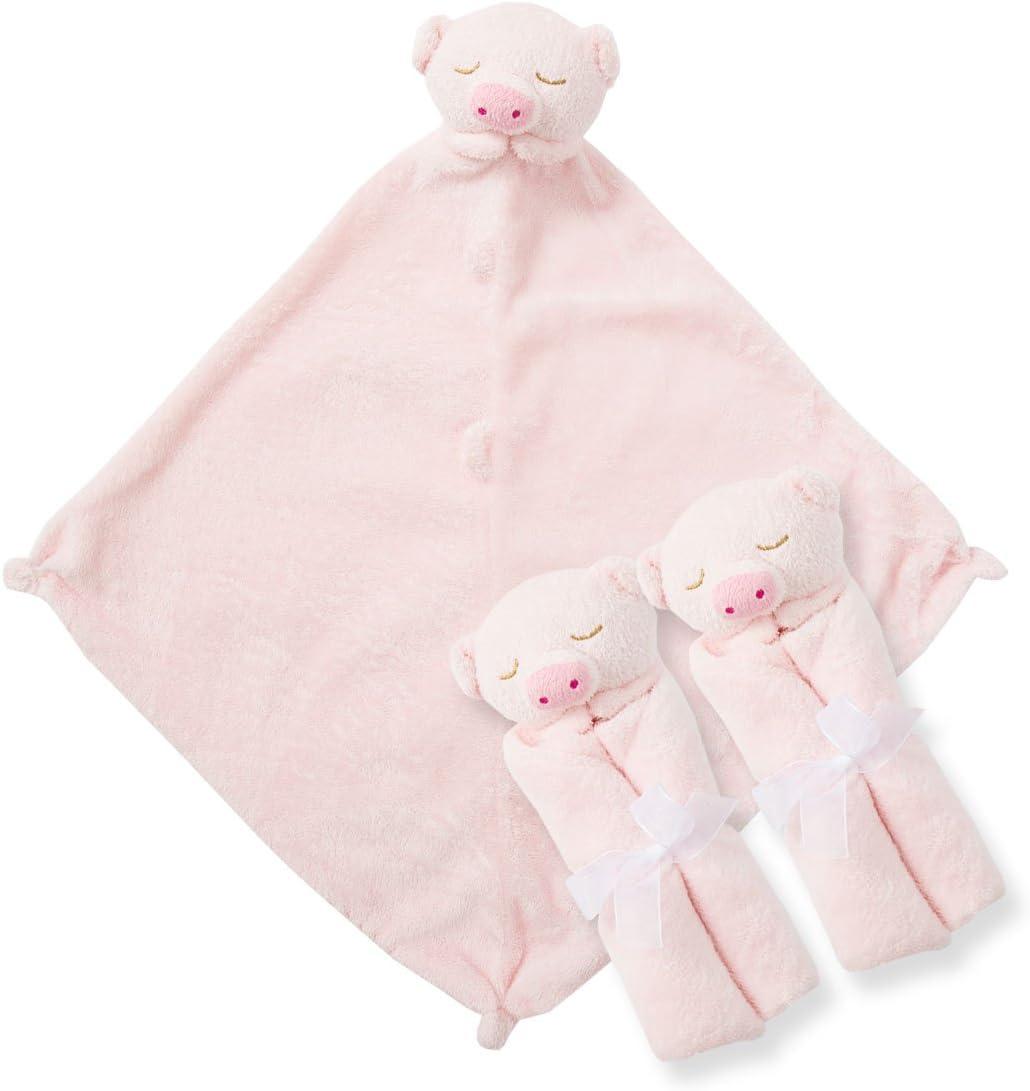 Piggy Angel Dear Pair and a Spare 3 Piece Blanket Set