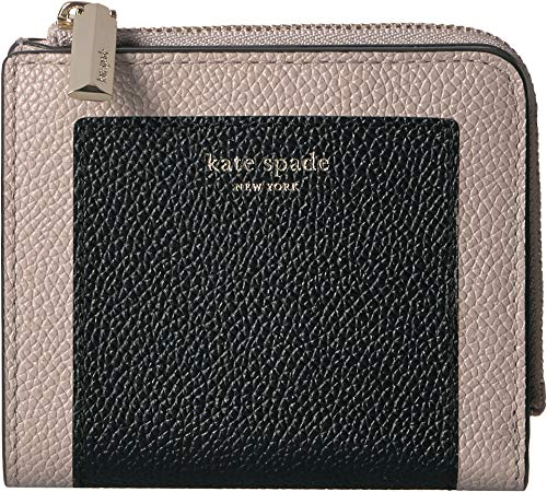 Kate Spade New York Women's Margaux Small Bifold Wallet Black/Warm Taupe One Size