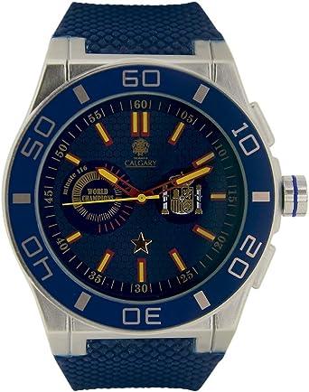 España World Champion Blue. Reloj Deportivo para Hombre, Correa de ...