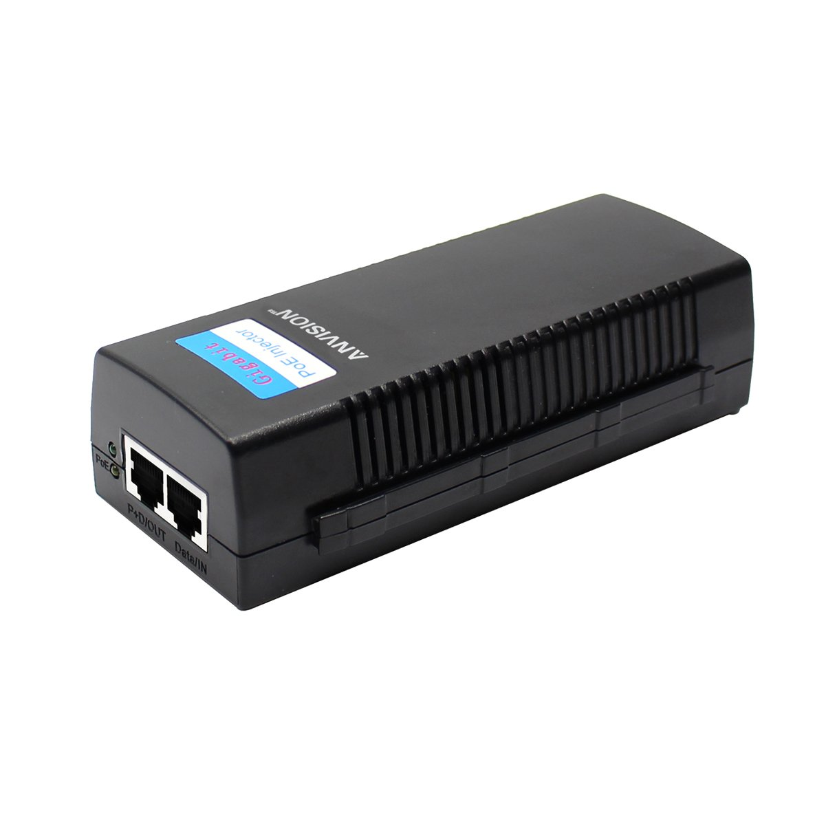 ANVISION 48V 0.8A Gigabit PoE Injector Power Supply Ethernet Adapter with AC Cord IEEE 802.3af/at Compliant 10/100/1000Mbps for IP Voip Phones, Cameras, AP and more by ANVISION