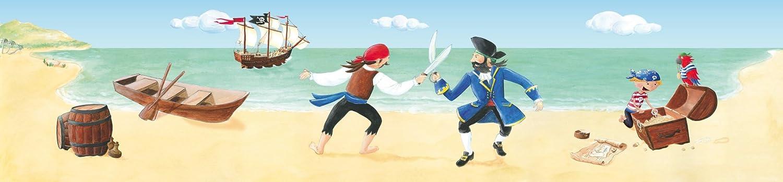 Wandpiraten Kinder Wandbild Fototapete 'Wilde Piraten' 200 x 46, 5 cm WP_PT_001_2