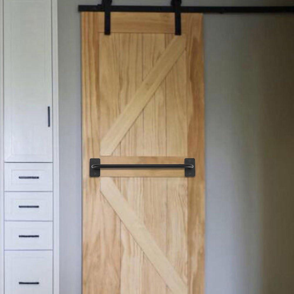 Manija de Puertas de Granero Tirador de Puerta Tirador Mango de Hierro, Mango de Puerta para Armario Habitación Cocina (L): Amazon.es: Bricolaje y herramientas