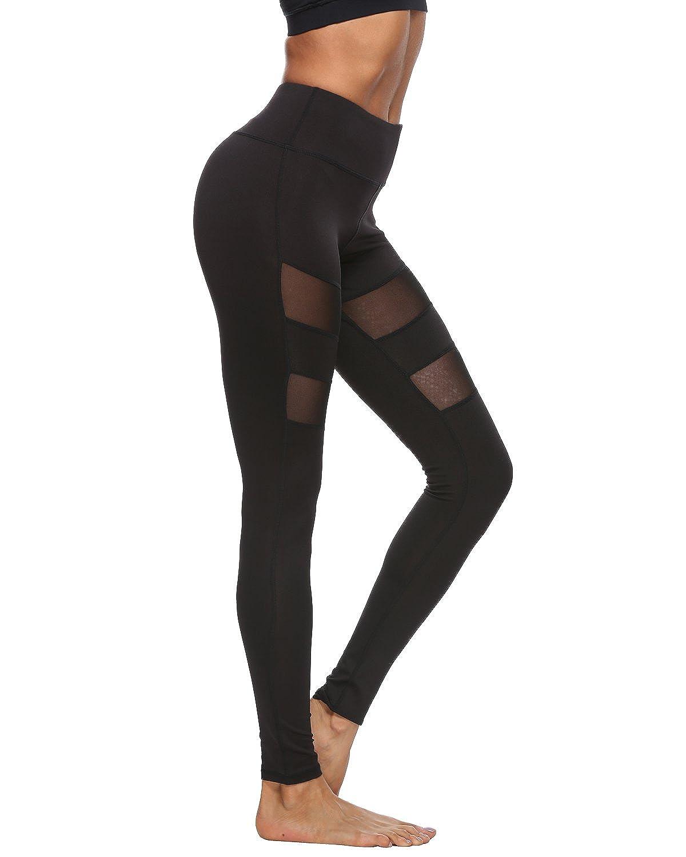 Souteam Yoga Pants, Women's Power Flex Workout Yoga Capris Pants Leggings
