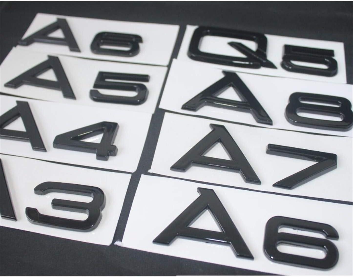 Embl/ème brillant noir arri/ère du tronc Lettre de lembl/ème du badge A3 A4 A5 A6 A7 A8 A4L A6L A8L Q3 Q5 Q7 35 40 45 50 55 TFSI 35 TFSI