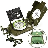 Multifunzione Bussola Impermeabile Militare Puntamento Per Trekking Campeggio Arrampicata Verde MilitareTonor
