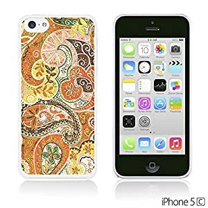 OnlineBestDigital - Flower Pattern Hardback Case for Apple iPhone 5C - Floral Paisley