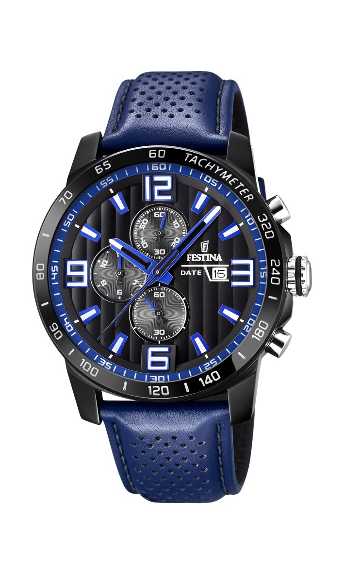 Men's Watch Festina - F20339/4 - Chronograph - Date - Blue and Black by Festina