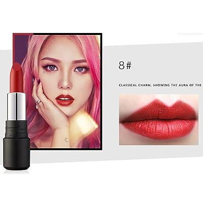 10 Colores Profesional Labial Mate Pintalabios Permanente de Maquillaje Larga Duracion para Niñas por ESAILQ D