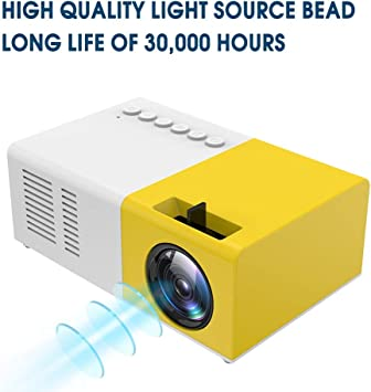 WLYZX Beamer Bolsillo Mini proyector Portable Proyector de Cine en ...