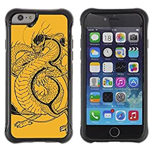 Hybrid Anti-Shock Defend Case for Apple iPhone 4s Inch / Japanese Dragon