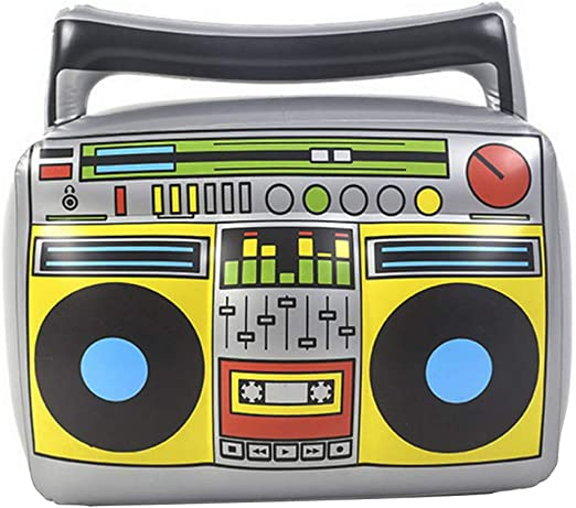NUOBESTY Radio Inflable Boombox Raperos Hip Hop B-Boys Disfraces ...