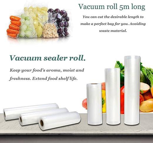 Reusable Kitchen Vacuum Sealer Food Saver Rolls Fresh-keeping Storage Bag