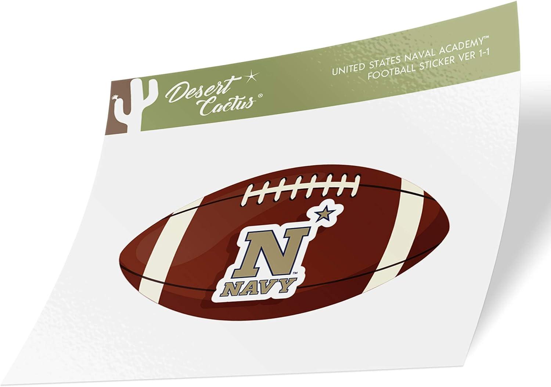Football Logo Sticker United States Naval Academy USNA Midshipmen NCAA Navy Vinyl Decal Laptop Water Bottle Car Scrapbook