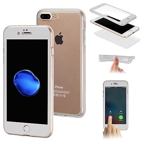 custodia iphone 8 plus silicone fronte retro