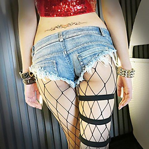 Stretto Di Fang Da Bassa Blu Pantaloncini size Sexy Jeans Glutei Donna Cotone Vita Busine Svela Caldi Spiaggia S Qi 8dPwff