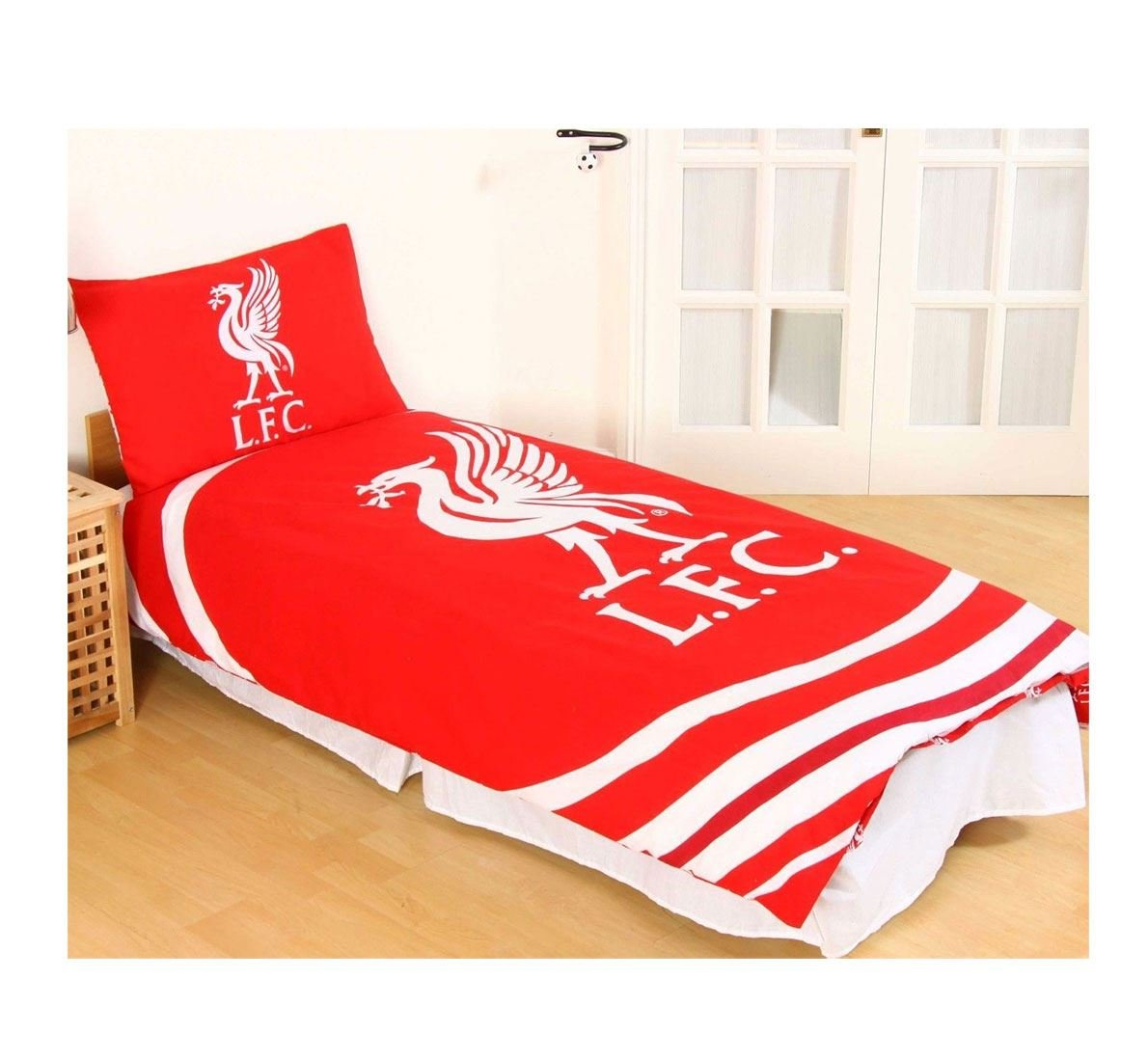 Boys Liverpool FC Pulse Single Bedding Childrens Quilt Cover Pillow Case Set Red MA ONLINE