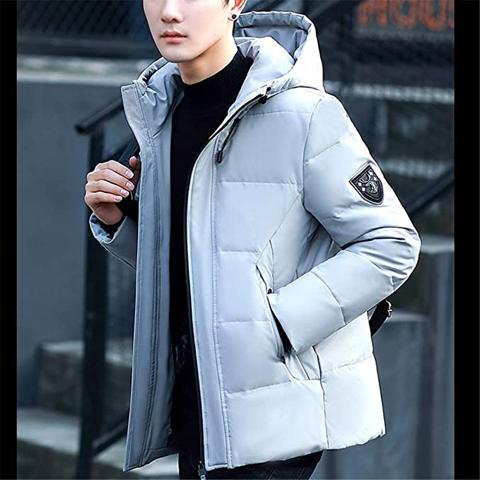 Wehor Winter Men Fashion Short Thicken Casual Slim Hooded Warm Jacket Jacket