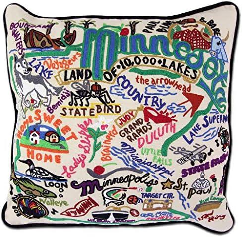 Catstudio Minnesota Embroidered Decorative Throw Pillow