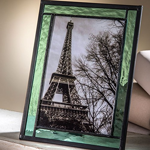 Stained Glass Photo Frame Sage Green Holds  Picture