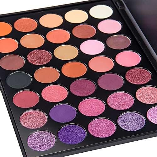 DE'LANCI 35 Color Eyeshadow Makeup Palette Professional Eyeshadow Make Up Kit Set ( 35 P+)