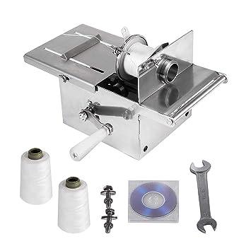 HUKOER Salchicha manual que ata la máquina de anudado Acero inoxidable Nudo de salchicha Machin Casetas de salchicha Encuadernadora de encuadernación (52 mm ...