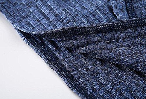 Jaycargogo Womens Fente Sexy Bleu Nu Bandage Tricot Robe Nu Dos Manches Dos ZqfaRq