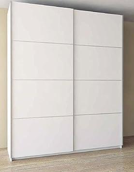 Armoire Avec Porte Coulissante.Pegane Armoire Avec 2 Portes Coulissantes Coloris Blanc Dim 120 X 60 X 220 Cm