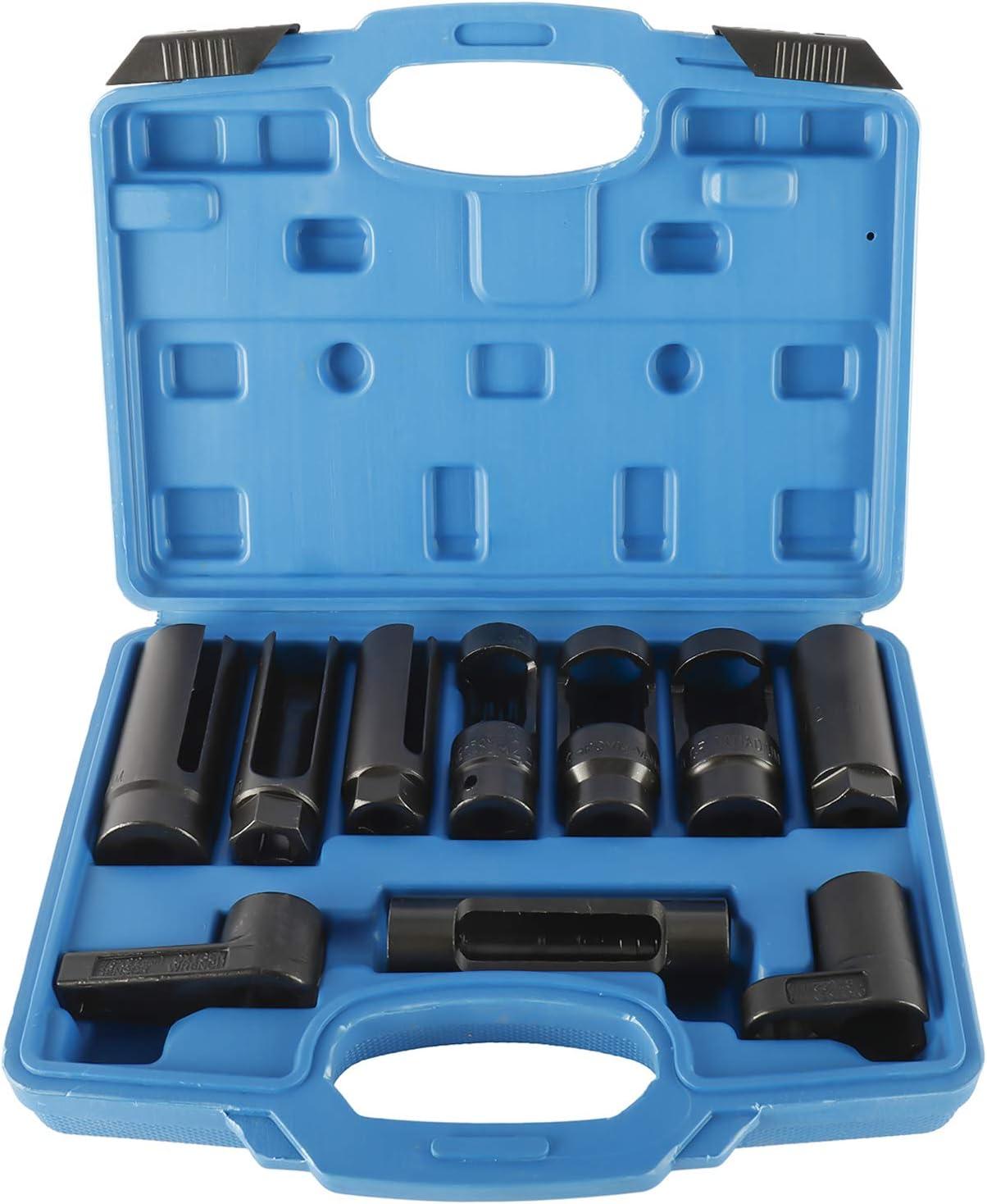 FreeTec Juego de 10 piezas de sonda lambda especial para llaves de vaso