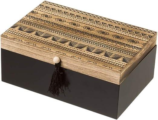 Caja joyero de Madera Negra étnica para Dormitorio Factory ...