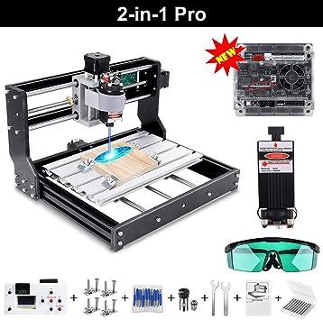 15 Watt CNC Mini Laser Graviermaschine mit 15000 mw Laserkopf Holz Router PCB Glas Metall Fr/äsmaschine Holzschnitzerei Maschine