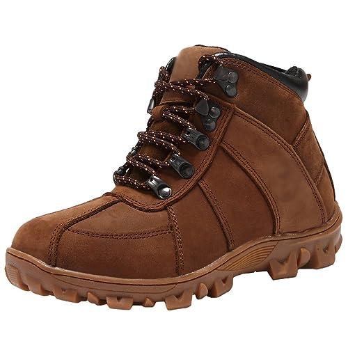 b98b9aacbc157 Yiiquan Bottes de Neige Bébé Garçon Fille Chaud Hiver Enfant Bottines  Chaussures étanche Boots Marron 31