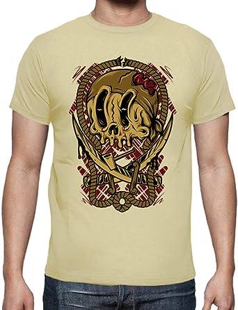 latostadora - Camiseta Pirata de la Muerte para Hombre Crema XL: Amazon.es: Ropa y accesorios