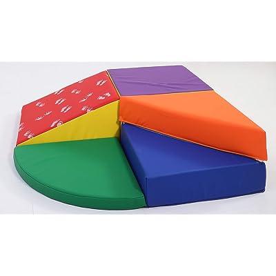 Botabee Baby & Toddler Crawl, Climb & Slide Soft Foam Corner Play Set | Lightweight Foam Shapes for Safe, Active Play, 5- Piece Corner Play Set: Toys & Games