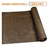 Sunshades Depot 24' x 151' Shade Cloth 180 GSM HDPE Brown Fabric Roll Up to 95% Blockage UV Resistant Mesh Net